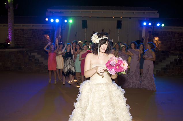 Bride Bouquet Toss