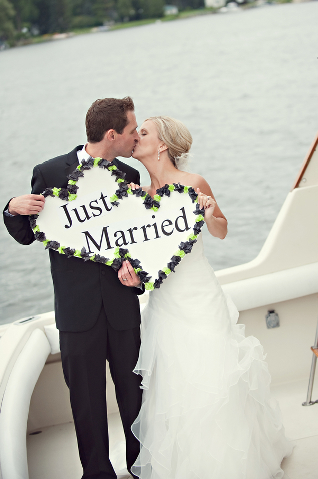 Just Married Wedding Photo