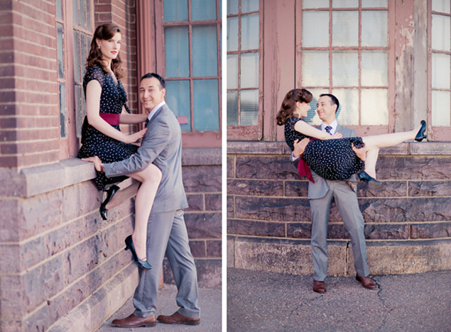 Vintage Engagement Shoot