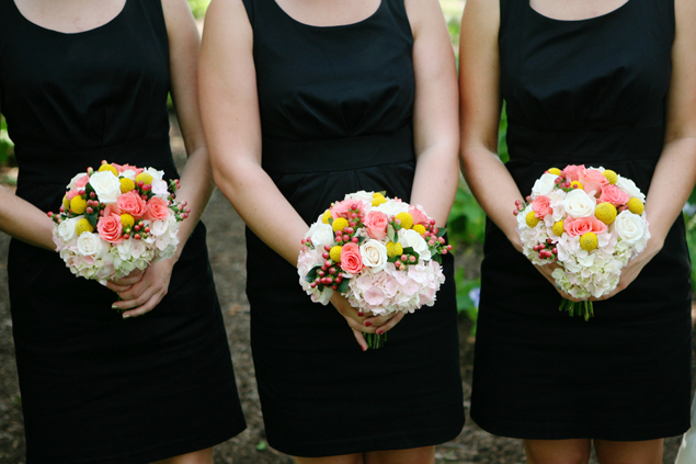 Bridesmaid Dresses and Bouquets