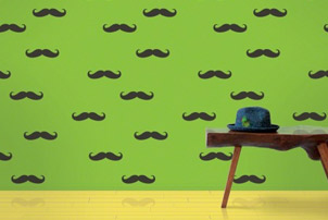 MustacheRemovableWallPaper