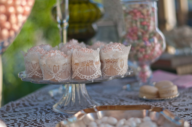 Pale Pink Wedding Cupcakes