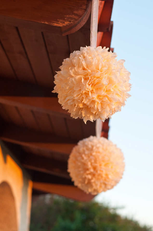 Tissue Poms Wedding Decor