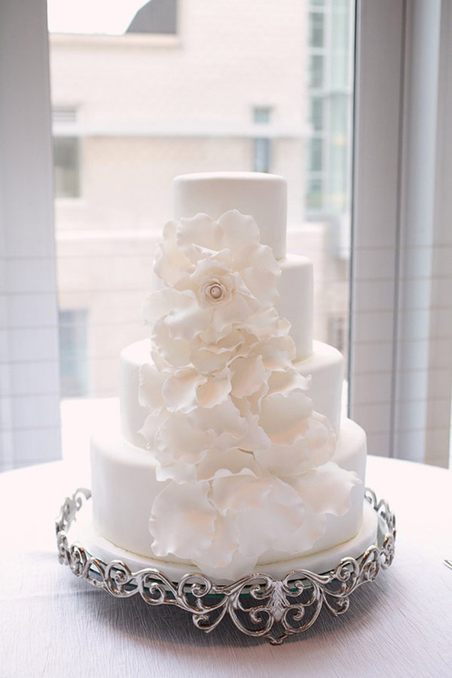 Inspiration: White Wedding Cakes