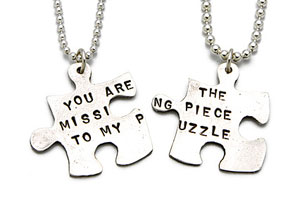 Missing Piece Puzzle Necklace