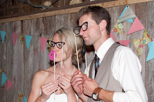 Bride and Groom photo props
