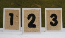 Burlap Wedding Table Numbers