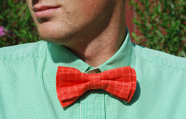how to sew a bow tie