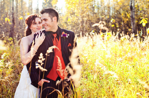 Fall Bride and Groom Photos