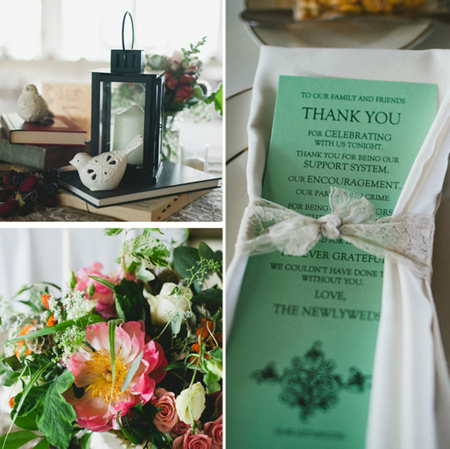 eclectic wedding details
