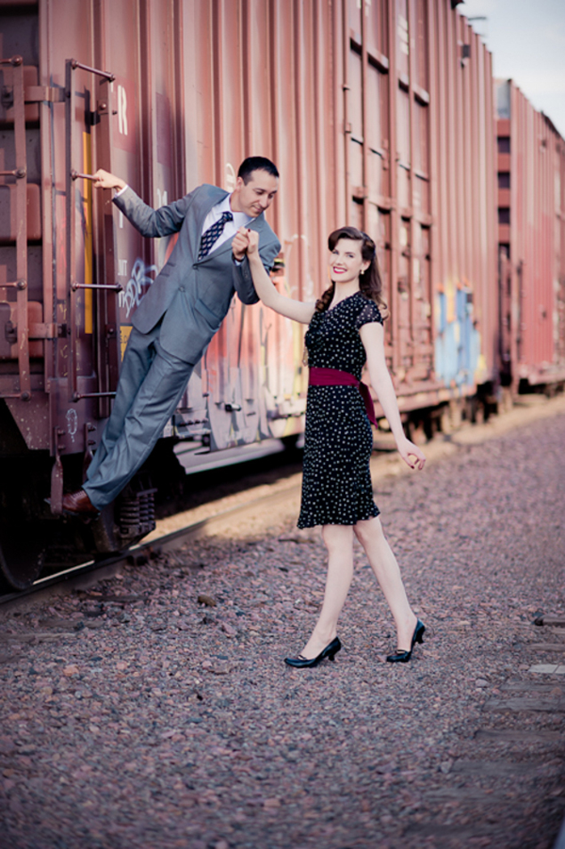 Vintage Inspired Engagement Photos