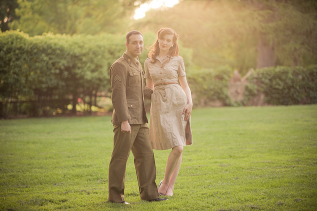 Vintage Styled Engagement Pictures