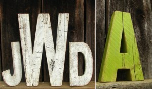 Rustic Wood Wedding Letters Set