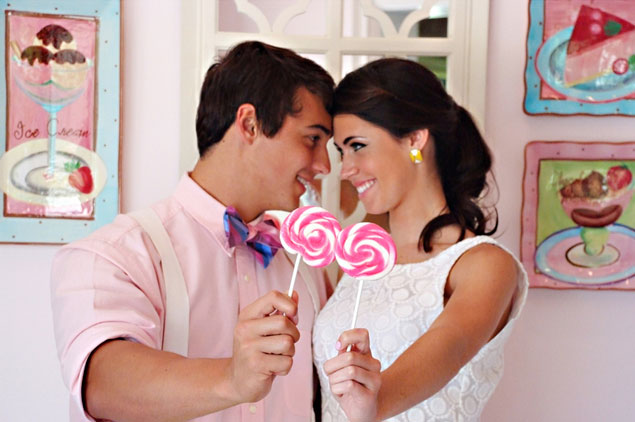 Candy Store Engagement Shoot