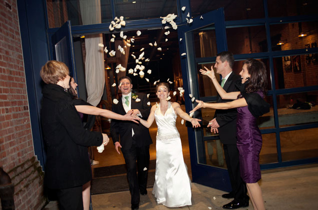 Flower Petal Wedding Exit