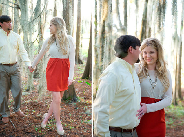 charming engagement shoot