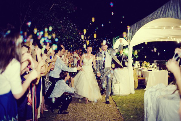 Bubble Wedding Exit