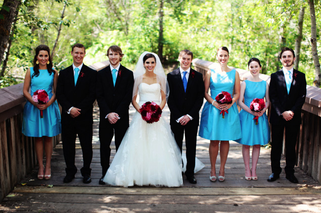 Teal Wedding Party Attire