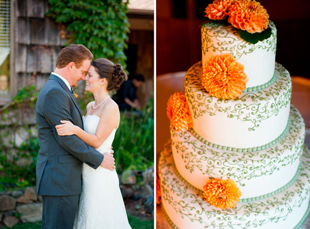 Orange Fall Wedding