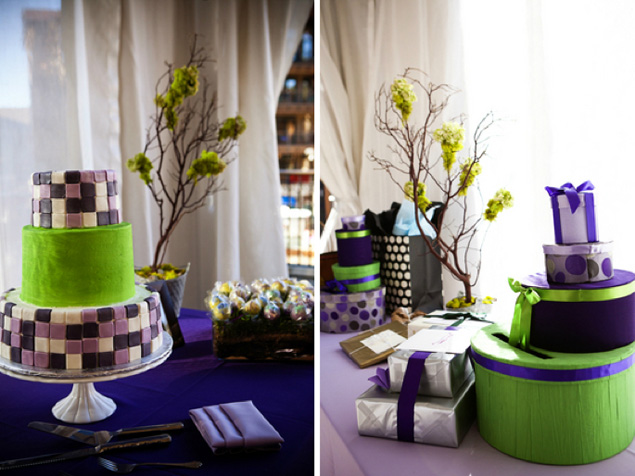 Purple And Green Wedding Cakes - Wedding Cake Flavors