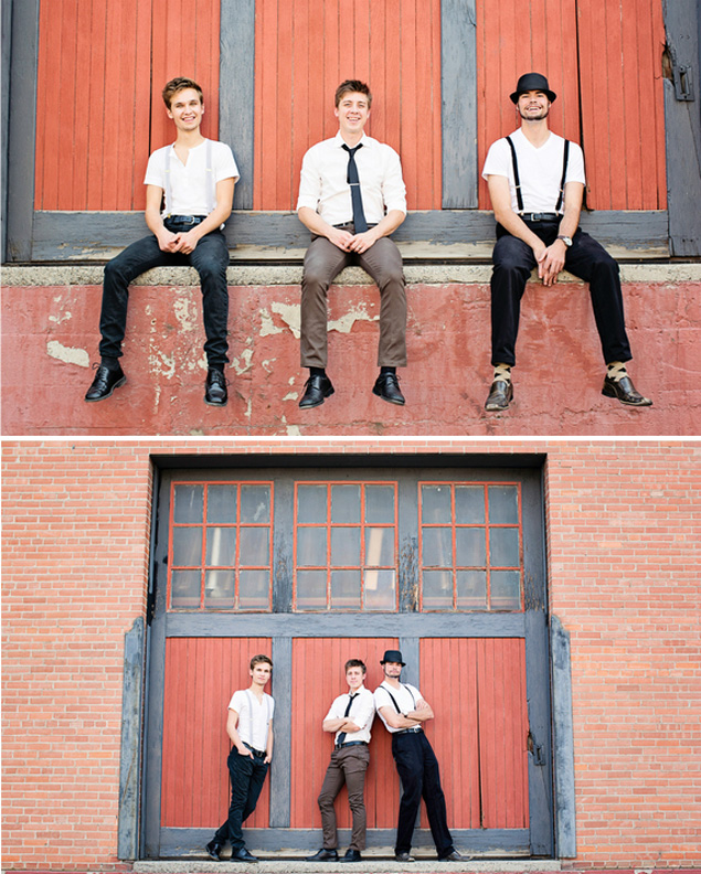 Modern Groom and Groomsmen
