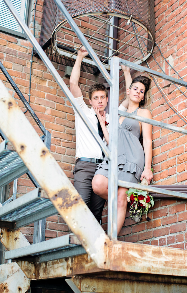 Urban Bride and Groom