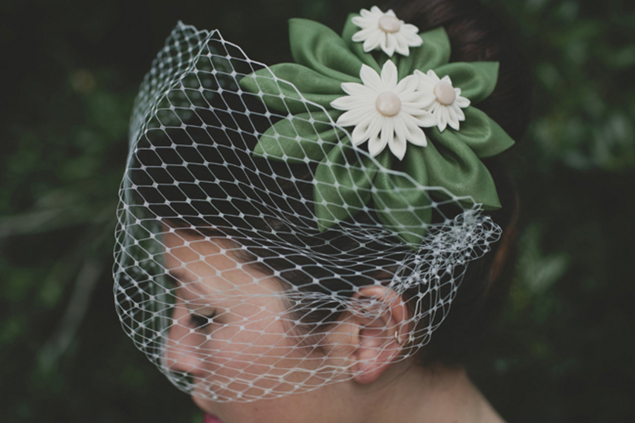 Bridal Hair Accessory and Veil