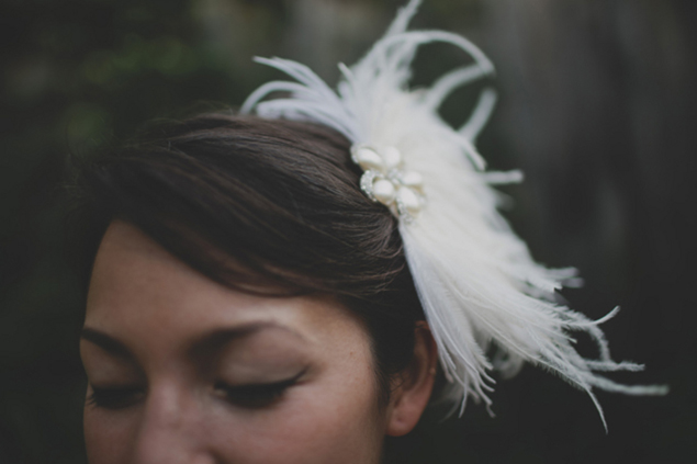 Feather Bridal Hair Accessory