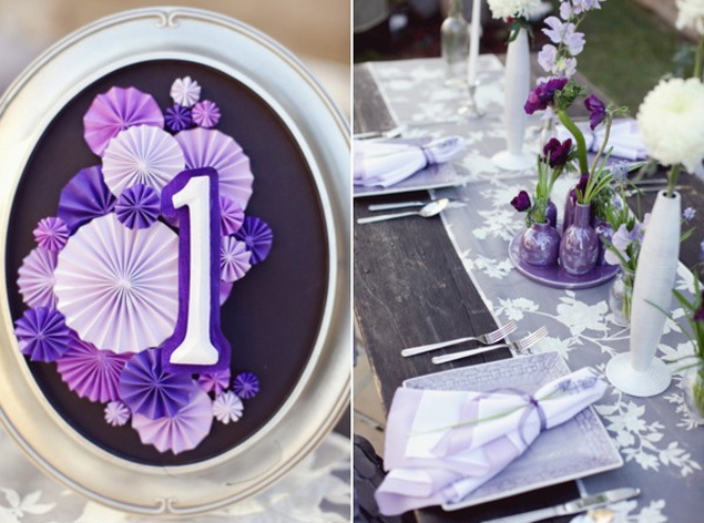 wedding table number inspiration