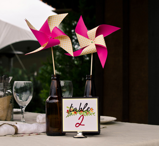 Pinwheel Table Number Display