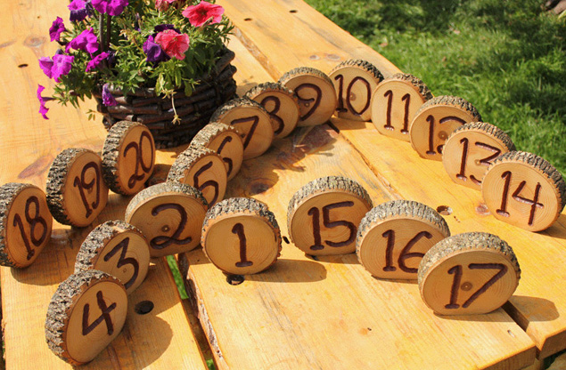Log Wedding Table Numbers