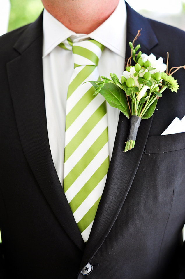 Lime Green Groomsmen Accessories