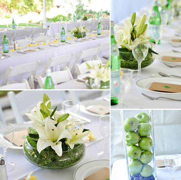 Lime Green and White Wedding