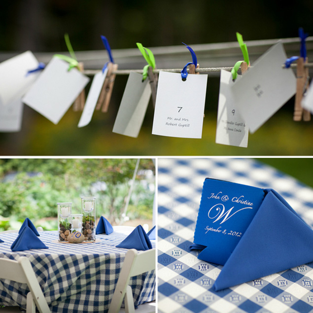 Blue and Green Backyard Wedding