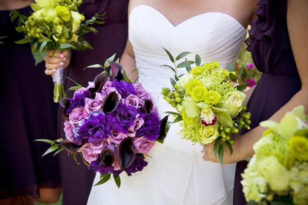 Green and Purple Bouquets