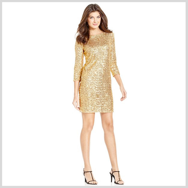 What to wear with gold sequin hot pants