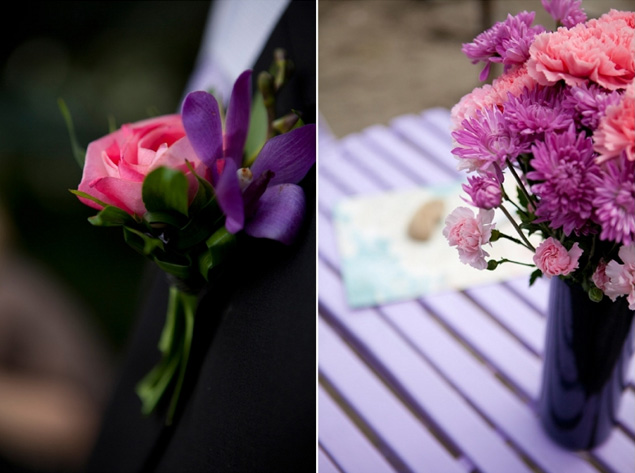 Pink and Purple Wedding Details
