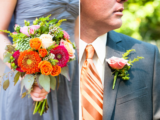 Orange Nashville Wedding