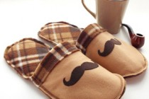 Mustache Slippers