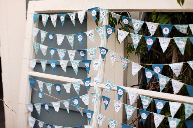 Bunting Flag Seating Chart