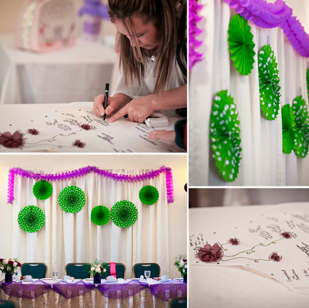 Green and Purple Bridal Shower