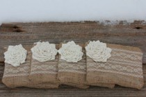 Burlap Lace Clutches