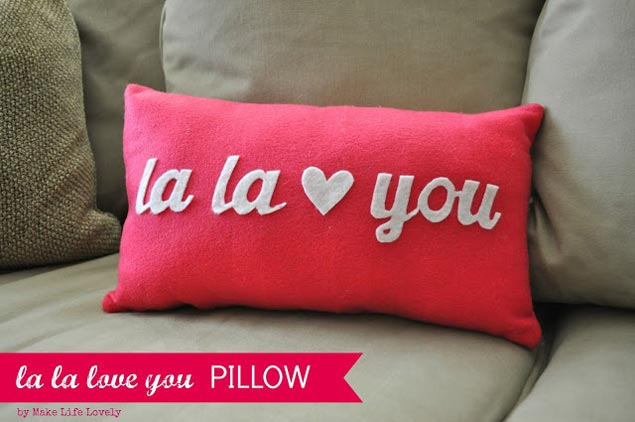 DIY Valentine's Day Pillow