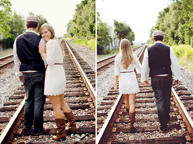 Train Track Engagement Photos