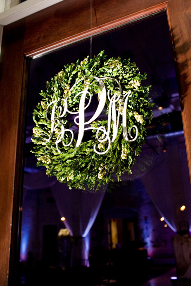 Monogram Wedding Wreath