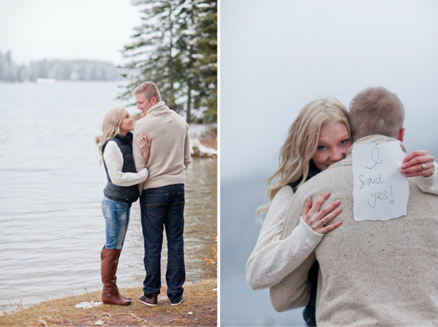 Lake Engagement Photo