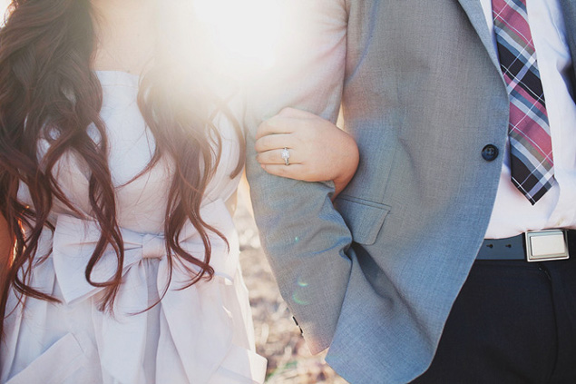 Engagement Photos with Ring