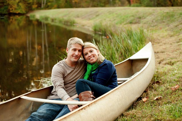 Fall Lake Engagement Pictures