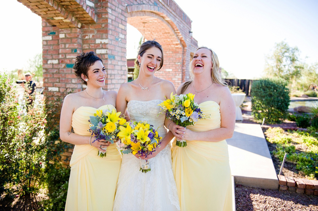 Pale Yellow Bridesmaids Dresses