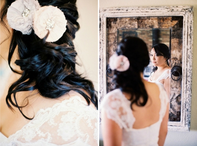 Floral bridal hair accessories